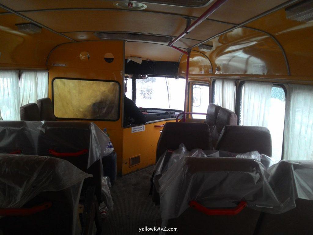 общий вид салона автобуса кавз 397662