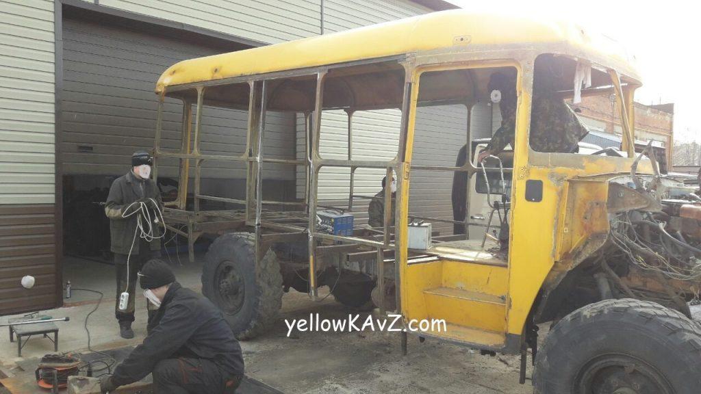 каркас кузова автобуса кавз