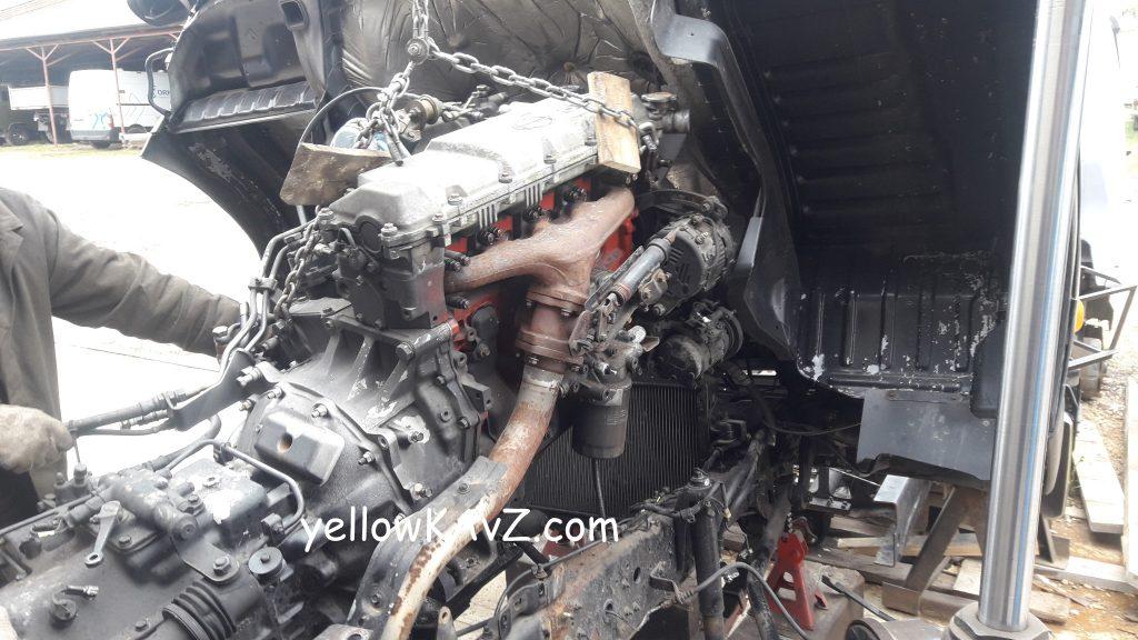 Демонтаж двигателя Hino J07C