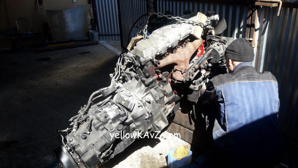 Двигатель Hino J07C с коробкой